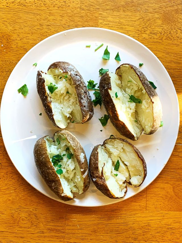 air fried baked potato