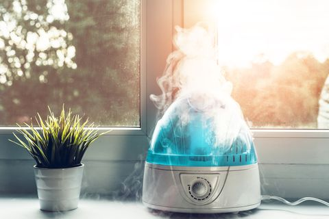 Air humidifier during work.