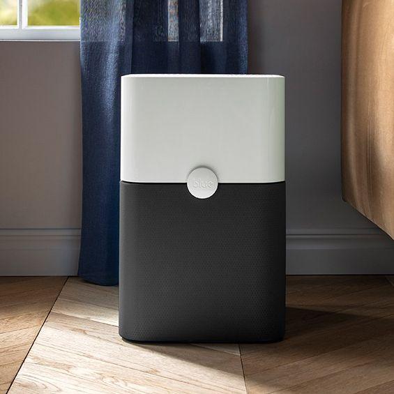 blueair air purifier in living room