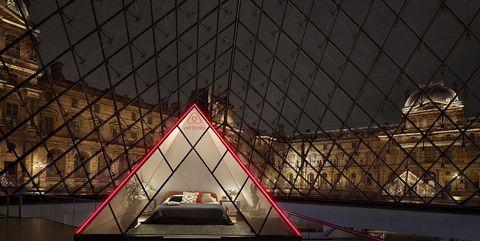 Airbnb in het Louvre