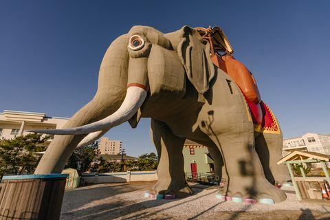 Elephant, Elephants and Mammoths, Indian elephant, Statue, African elephant, Sculpture, Terrestrial animal, Mammoth, Art, Tusk,