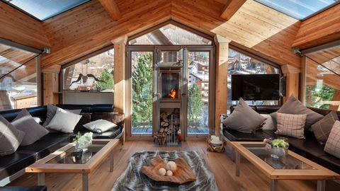 Room, Property, Living room, Building, Furniture, Interior design, Home, House, Beam, Log cabin,