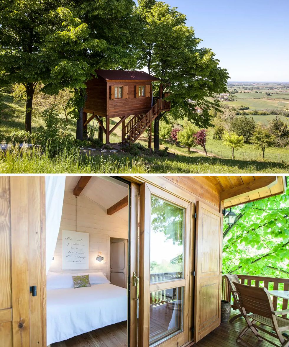 Airbnb treehouse Italy