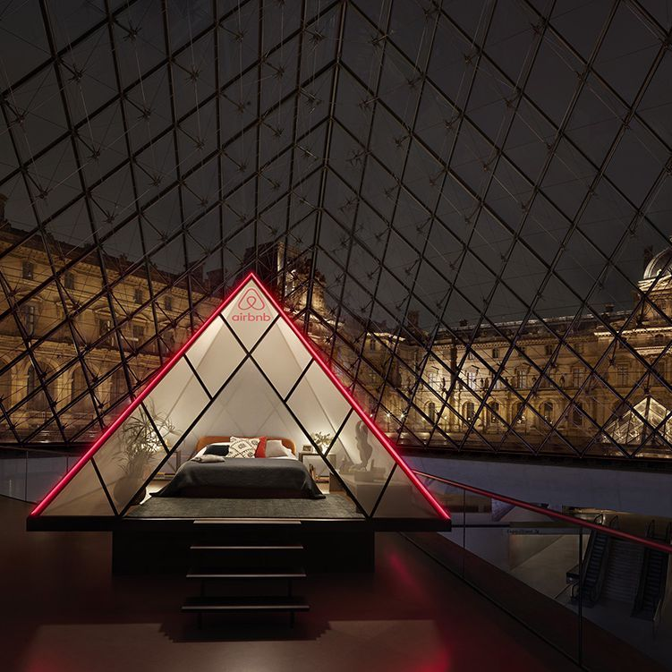 You can now spend a night inside the Louvre in Paris thanks to Airbnb