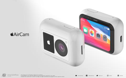 蘋果首款運動相機「aircam」問世?5款絕美配色、siri、faceid功能齊全,概念圖網瘋傳