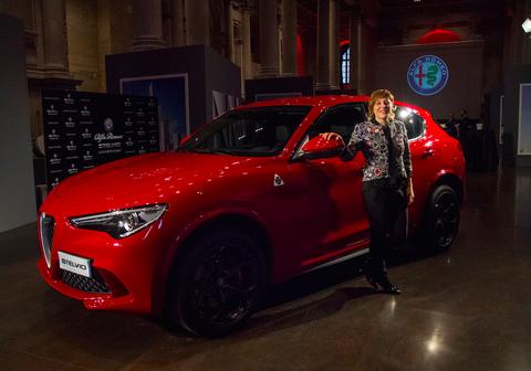 Antonia Klugmann e la nuova Alfa Romeo Stelvio