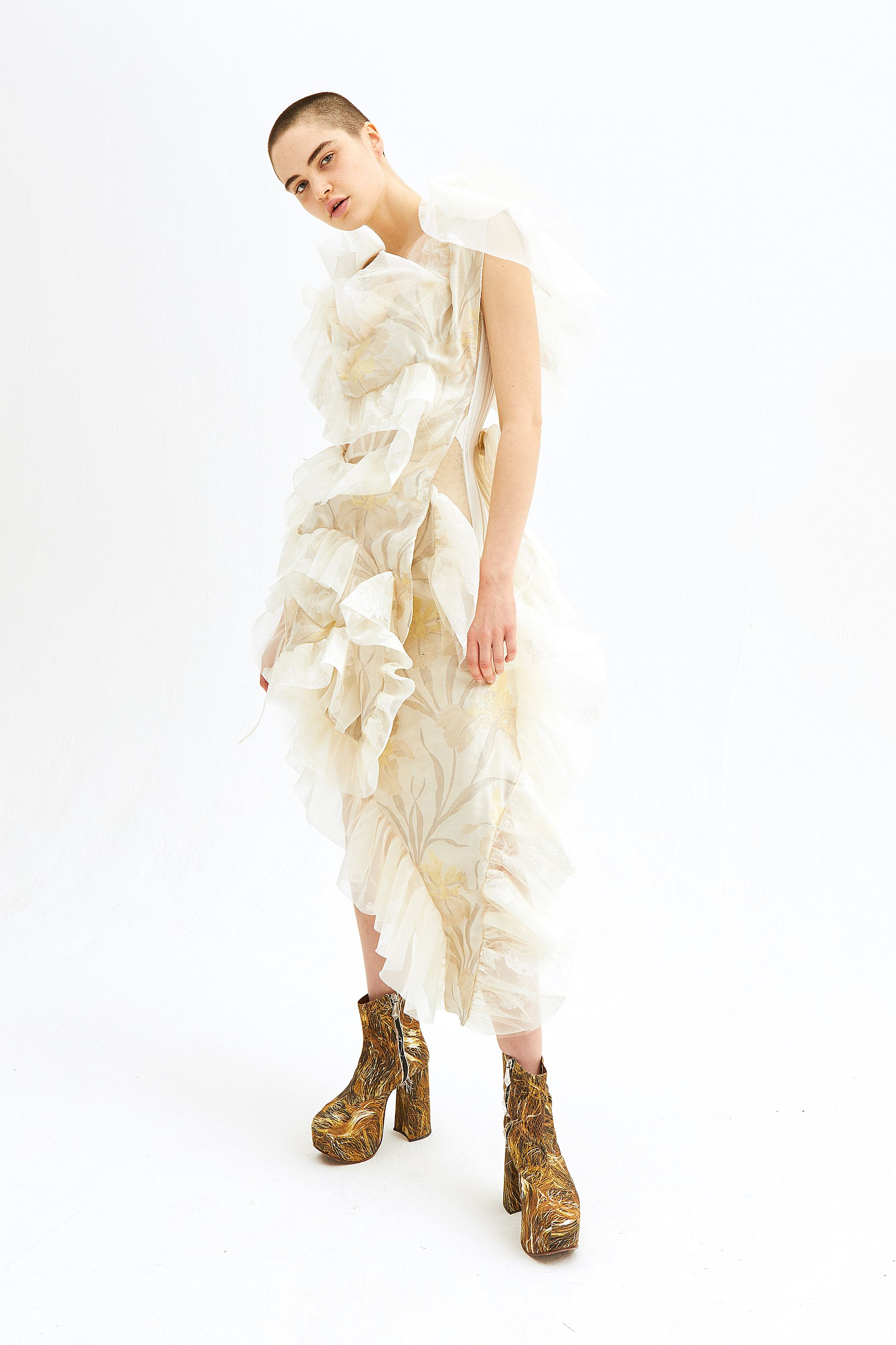 The Making Of Erin Wasson S Unconventional Upcycled Vivienne Westwood Wedding Dress