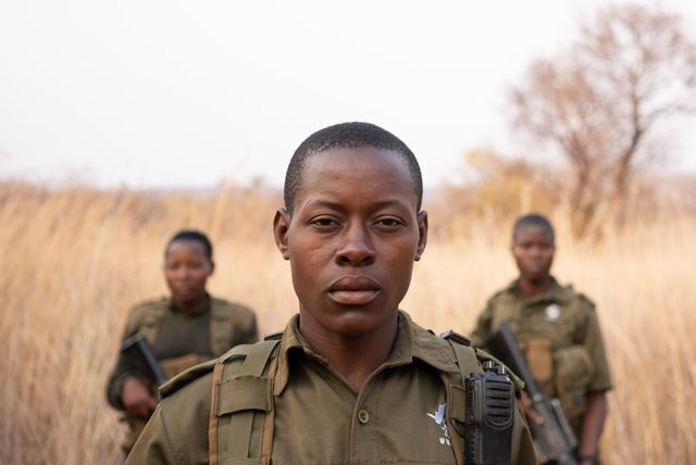 zimbabwe   petronella chigumbura with akashinga rangers kim butts