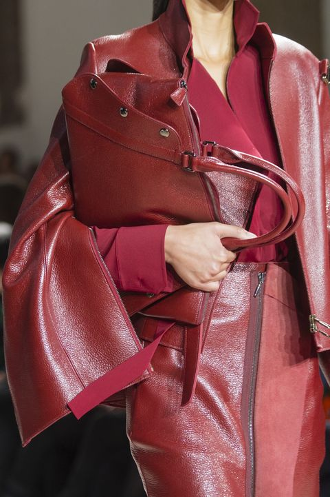 Red, Leather, Pink, Fashion, Outerwear, Handbag, Maroon, Bag, Fashion accessory, Textile,