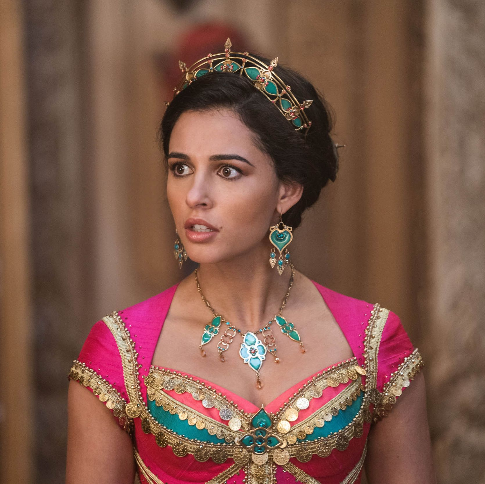 Naomi Scott as Princess Jasmine in the live-action reboot of Disney's Aladdin.