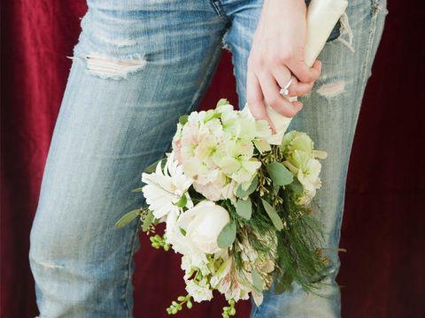 Al Matrimonio In Jeans : Vestiti da sposa: un modello non classico