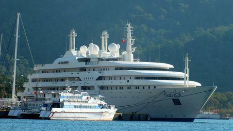 saudi arabian crown prince's mega yacht al salamah anchor in turkey