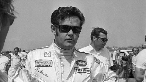 auto racing driver al unser wearing sunglasses