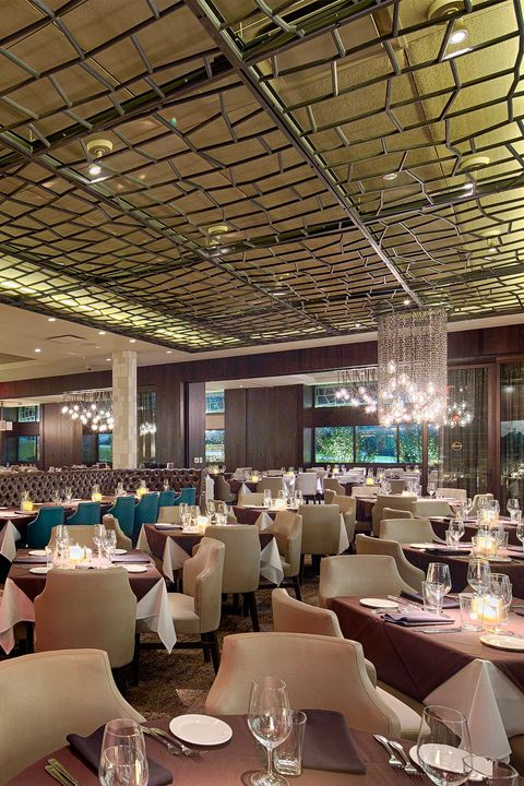 restaurant, building, interior design, ceiling, room, architecture, function hall, table, business, cafeteria,