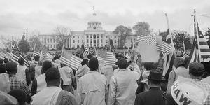 Marchers at Alabama State Capitol Building