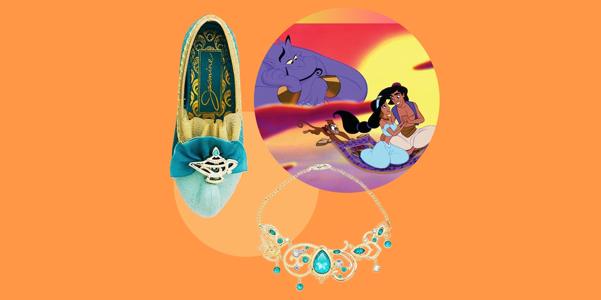 Womens Pink Genie Jasmine Aladdin Disney Ladies Fancy Dress Costume Sizes 6-14