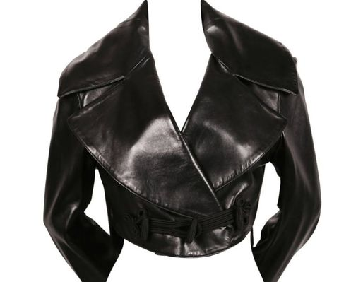 Clothing, Jacket, Leather, Leather jacket, Outerwear, Textile, Sleeve, Top,