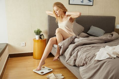 Room, Leg, Furniture, Blond, Floor, Comfort, Bed, Muscle, Flooring, Bedroom,