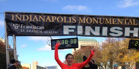 Alana Hadley Winning 2014 Indianapolis Monumental Marathon