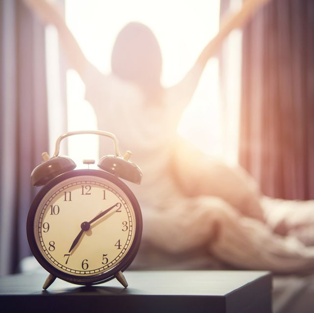 alarm clock having a good day in morning