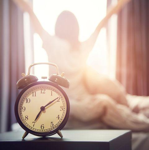 alarm clock having a good day in morning.