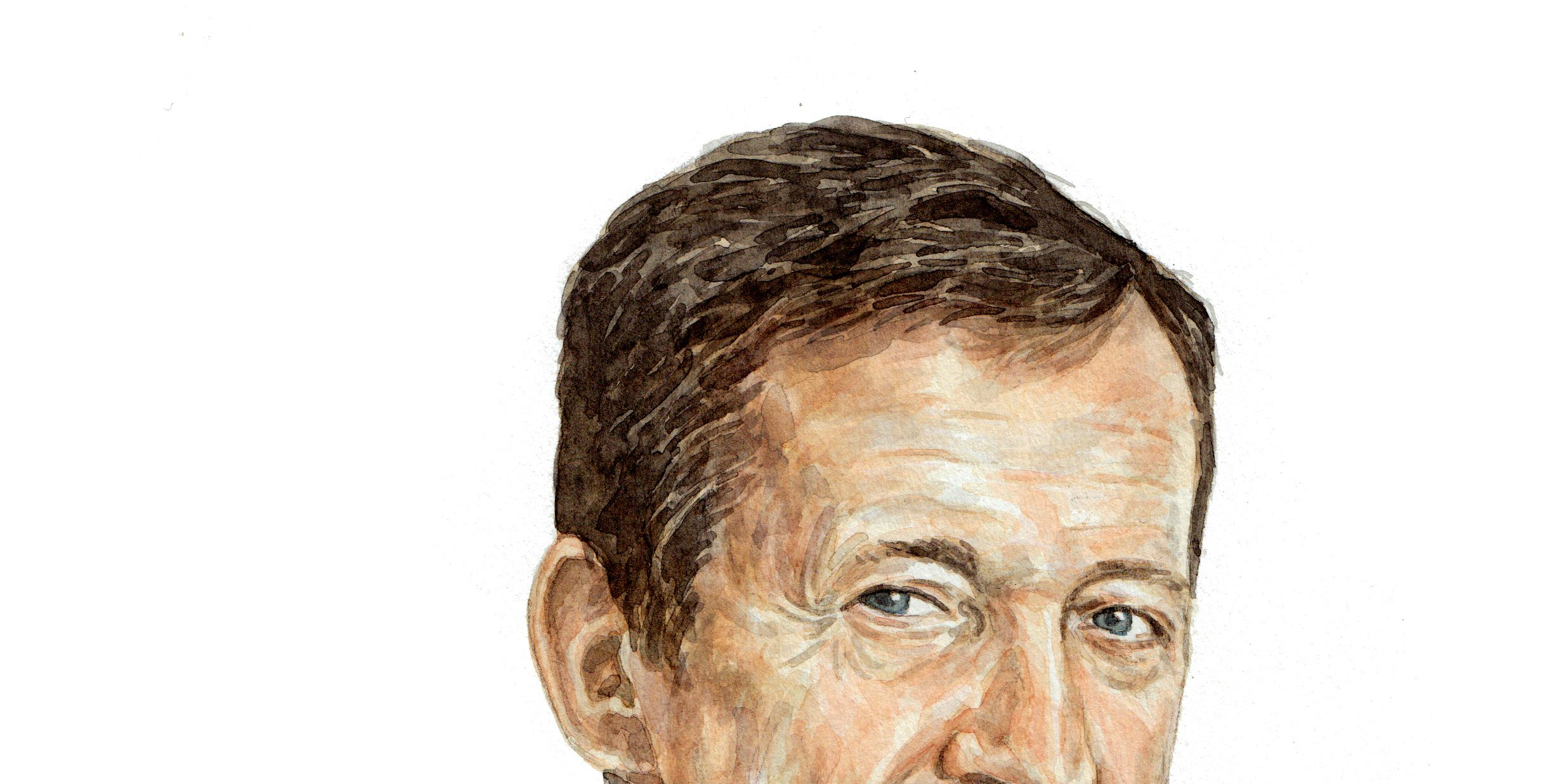 Alastair Campbell illustration for Esquire