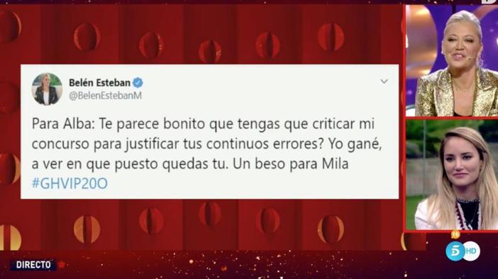 Belén Esteban carga contra Alba Carrillo