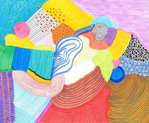 Illustration, Line, Art, Textile, Graphic design,