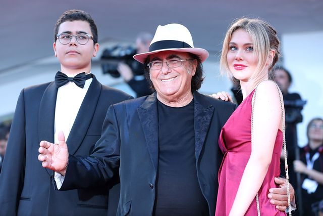 venice, italy   september 04 al bano carrisi jr, al bano and jasmine carrisi walk the red carpet ahead of the vox lux screening during the 75th venice film festival at sala grande on september 4, 2018 in venice, italy  photo by maria moratticontigogetty images