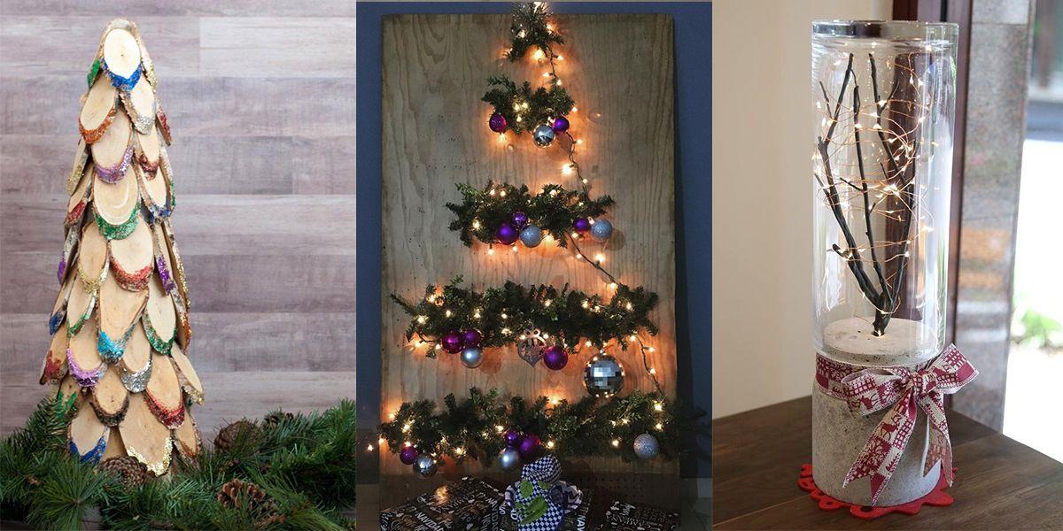 Alberi Di Natale Alternativi Fai Da Te.Albero Di Natale Fai Da Te 22 Idee Sfiziose Per Ritardatarie Degli Addobbi