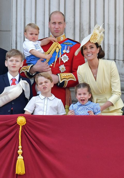 Prince George, Prince Louis, Princess Charlotte Trooping the Colour 2019