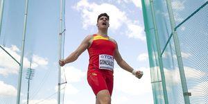 Alberto González, oro en martillo en el Europeo sub-23