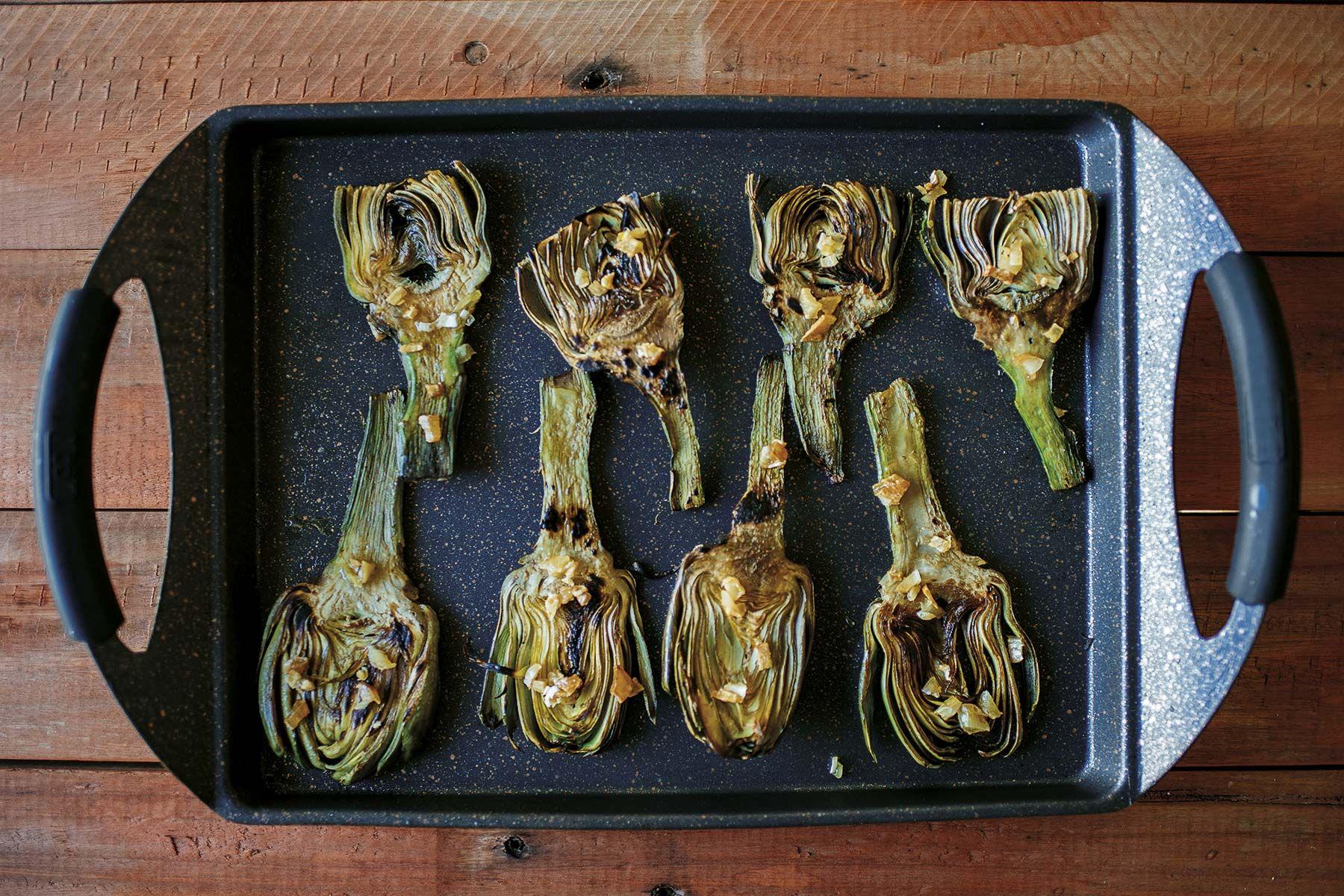Recetas para la Barbacoa (BBQ): Alcachofas a la plancha
