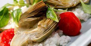 Alcachofas con arroz