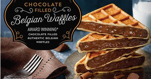 Aldi Is Selling Chocolate Stuffed Belgian Waffles For Less