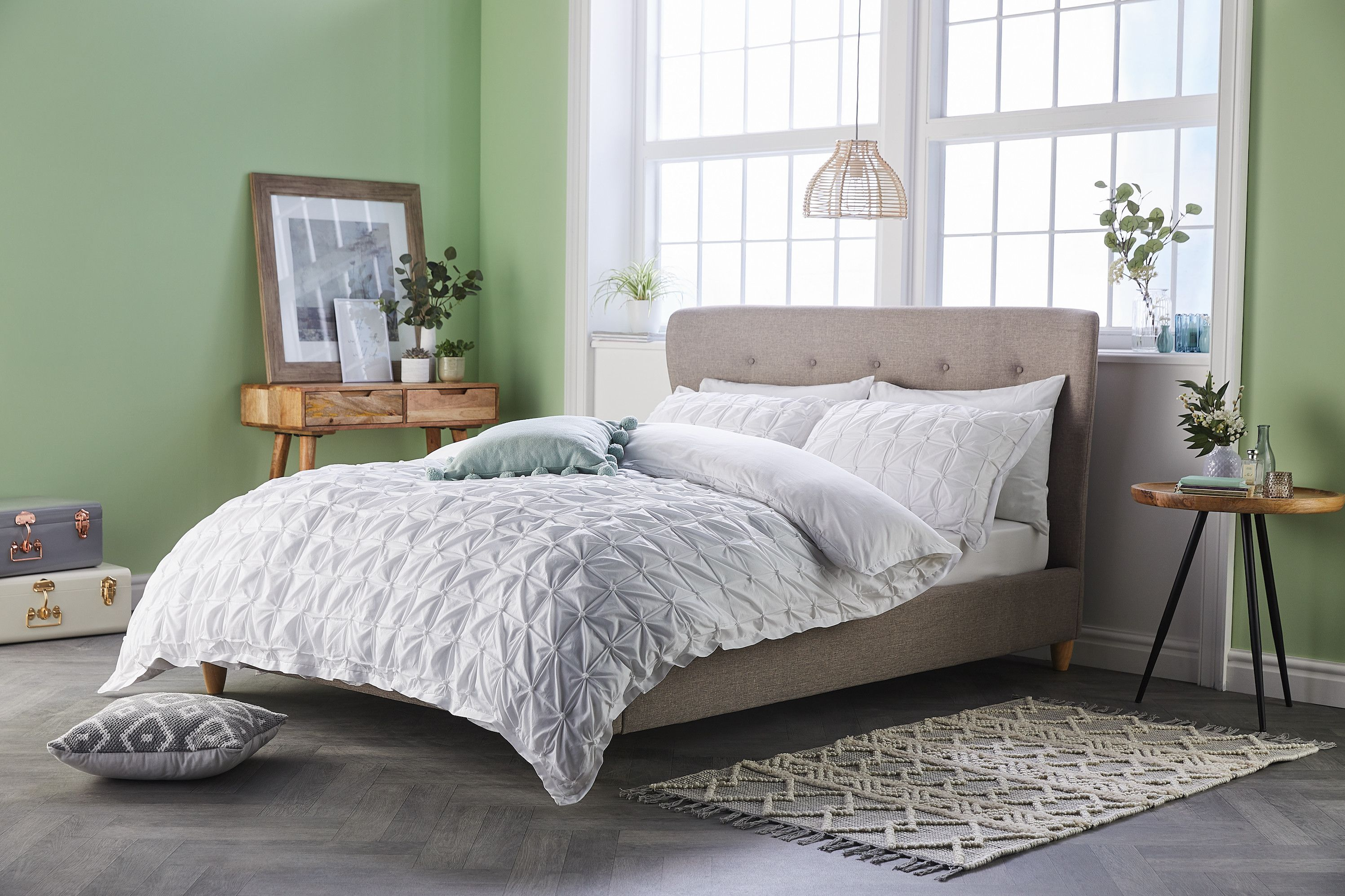 Grey Easy Care Pillow Case 4 Pack ALDI UK