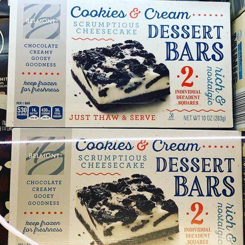 aldi cookies and cream cheesecake bars