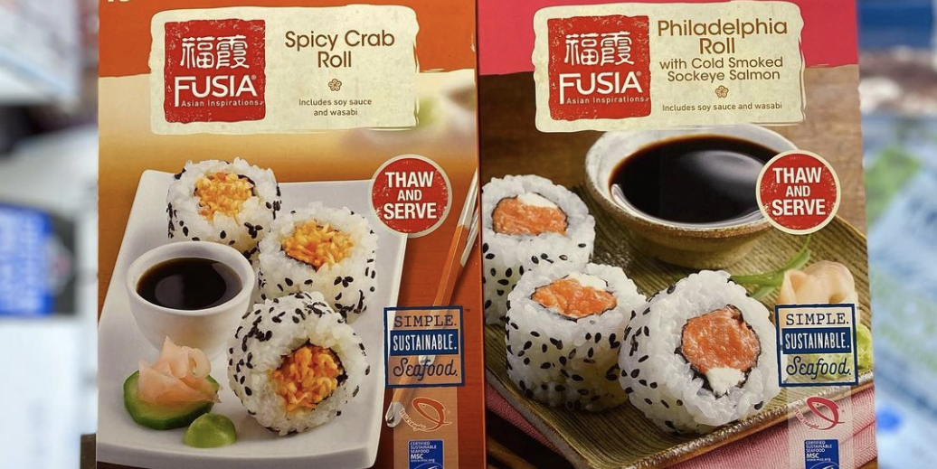 Aldi Sells Frozen Sushi In Spicy Crab And Philadelphia Roll Varieties