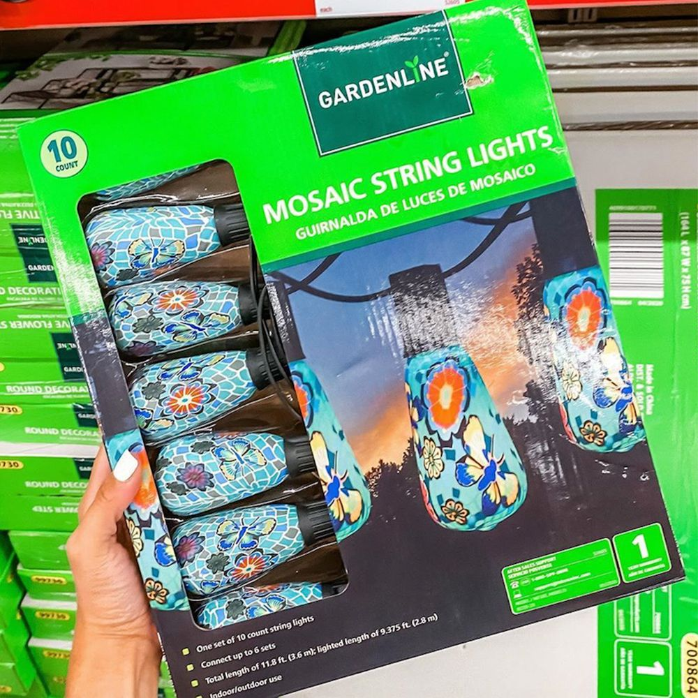 These Mosaic String Lights from Aldi Will Add a Special Touch to Your Patio