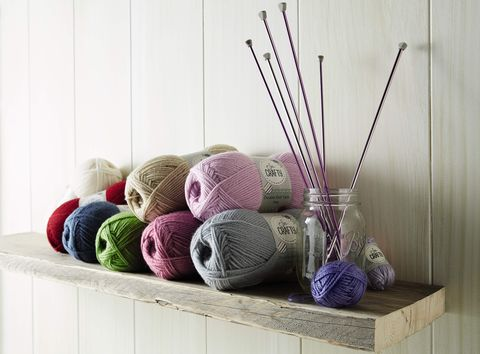 Aldi Hobby and Craft Specialbuys range - knitting projects