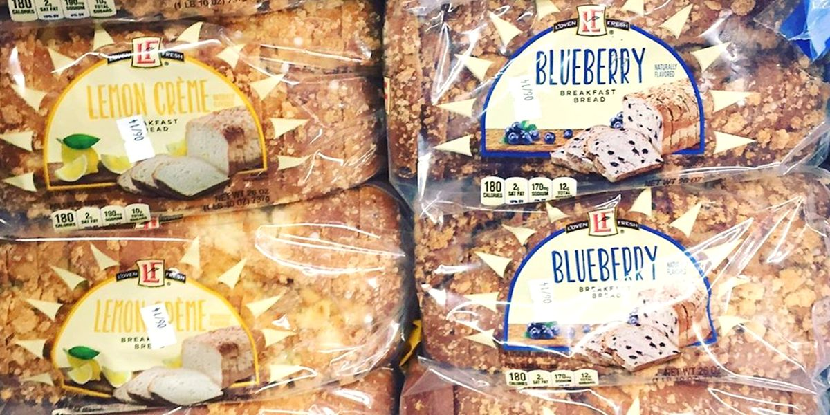 Aldi Is Selling Blueberry and Lemon Crème Breakfast Breads, So Get the Toaster Out Immediately