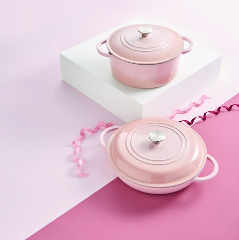 aldi launches blush pink cast iron range for mother's day