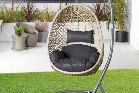 aldi's sell out hanging egg chair is back by popular demand