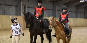 Aldi Summer Equestrian - horse riding lessons - two riders