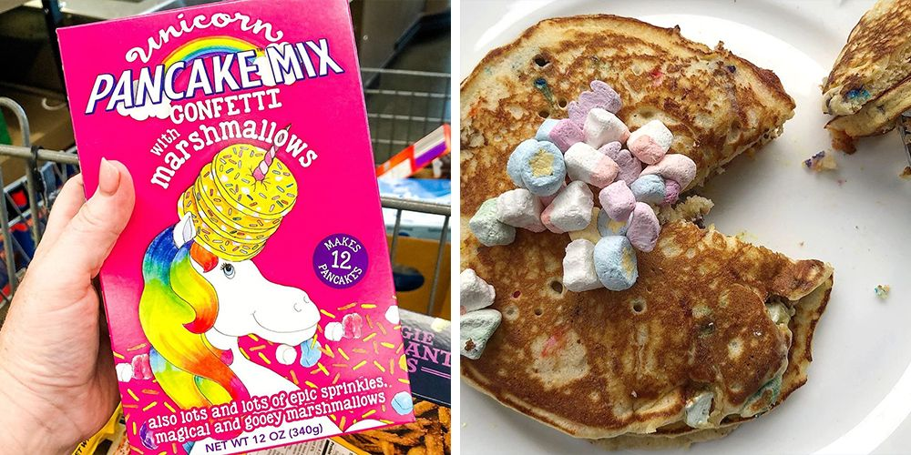 Aldi Is Stocking Its Shelves With Unicorn Pancake Mix That's Filled With Marshmallows and Sprinkles