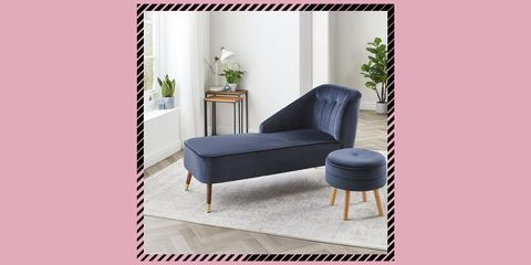 aldi velvet chaise