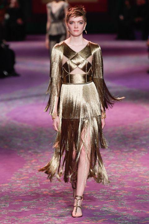 Fashion model, Fashion, Fashion show, Runway, Haute couture, Event, Fashion design, Public event, Dress, Performance,