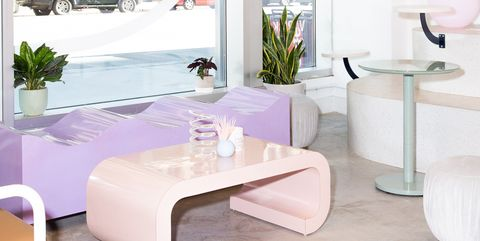 White, Room, Furniture, Interior design, Property, Table, Living room, Coffee table, Building, Floor,