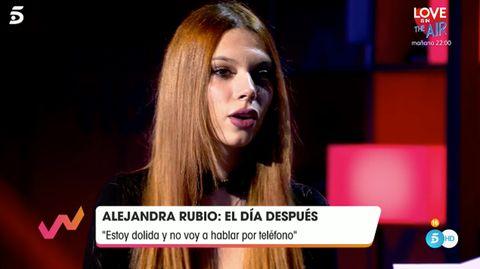 alejandra rubio explica motivos mala relación con carmen borrego