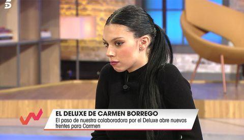 alejandra rubio le reprocha su actitud a su tía, carmen borrego en su intervención en 'viva la vida'